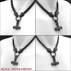 My New Black Viking Edition Jewelry Designs by GoodSpiritWolf