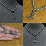 Ram Head Mjolnir on Multipurpose Bead Necklace by GoodSpiritWolf