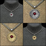 Wolf and Raven Coin Pendant w/Necklace Option by GoodSpiritWolf