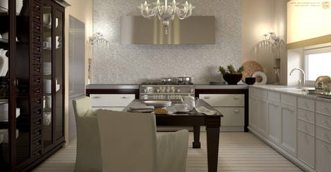 Kitchen interior by zipper