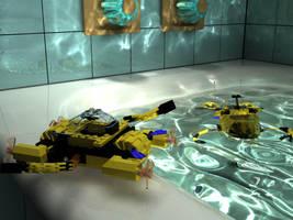 LEGO series 6 Bathroom Scene by zipper
