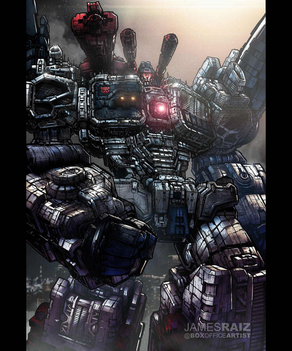 TRANSFORMERS METROPLEX in FULL COLOR by boxofficeartist
