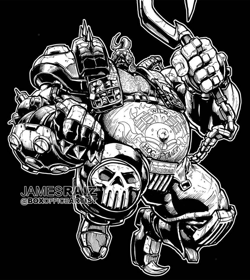 ROADHOG from OVERWATCH by boxofficeartist