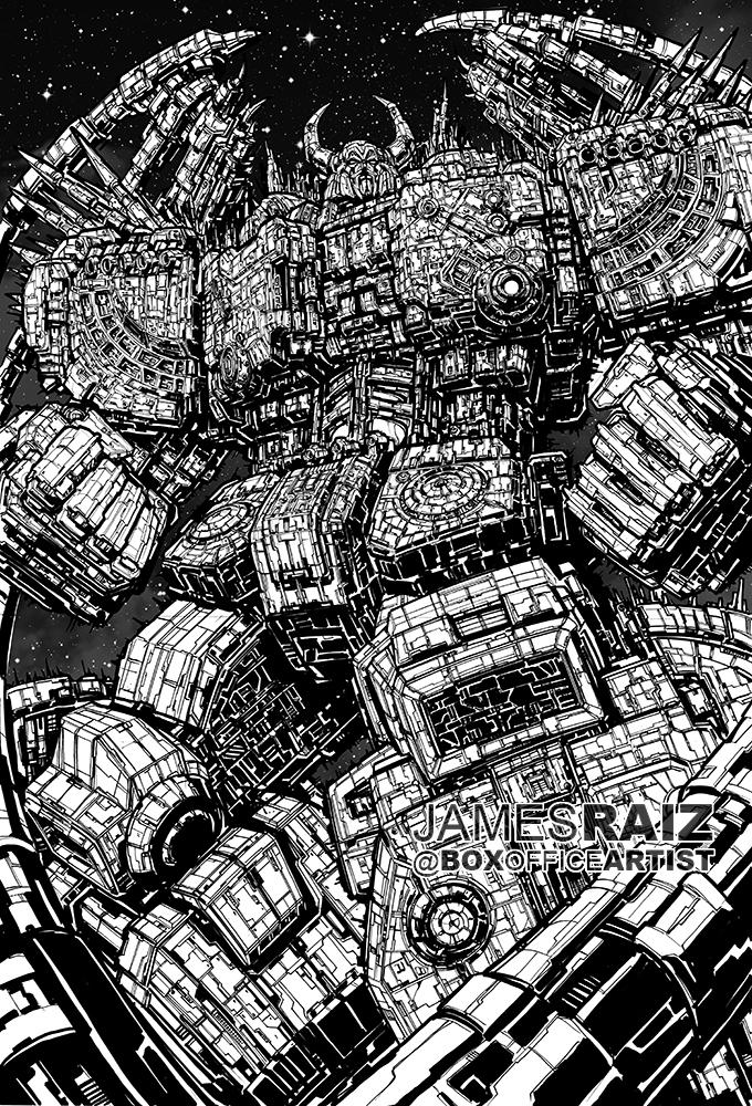 MOST DETAILED DRAWING EVER of UNICRON by boxofficeartist