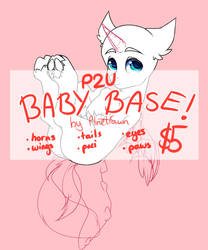 P2U BABY PONY BASE! $5 by PlnetFawn