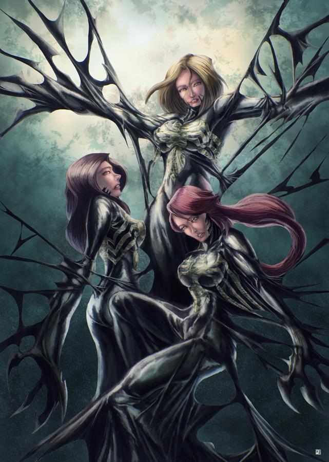 Danger Girl Symbiote by cric on DeviantArt | 641 x 900 jpeg 158kB