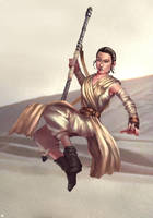 Star Wars Rey by cric