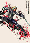 Black Widow x Chinese painting by cric