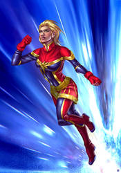 Capt Marvel by cric