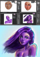 when u can t paint normal skin colored humans... by Crishi