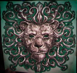 a classy as fuck lion by Crishi