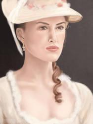 Portrait of Elizabeth Swann by malawika