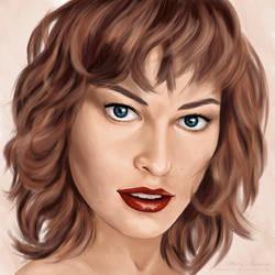 Portrait of Milla Jovovich by malawika