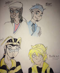 Cyber ninjas and wanna be speedsters by Spiderfrost101