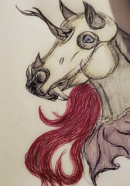 Halloween unicorn by Foreigner227