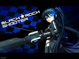 Black Rock Shooter Wallpaper by Kureemii