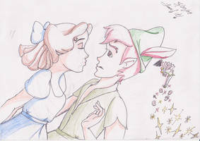 Peter Pan and Wendy by KristineButterfly