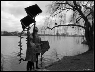 Hamburg - Alster lake by PaPeRDoLLLL