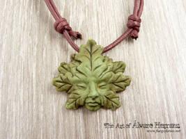 Greenman resin pendants by AlvaroFuegoFatuo