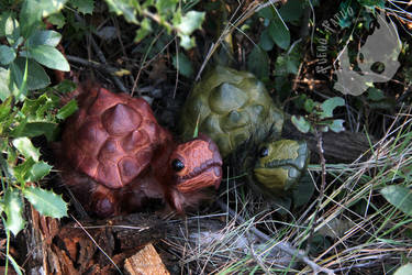 Couple of wild tarasque hatchlings by AlvaroFuegoFatuo