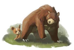 Mamma bear by Penny-Dragon