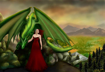 Xantherlynn's Dragon by Alsheeny