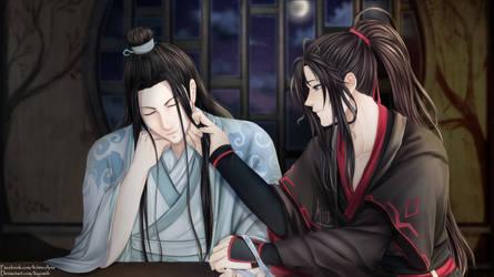 Lan Wangji x Wei Wuxian by Kiyomiih