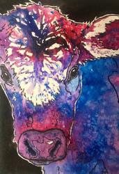 Tie Dyed Calf by OdderByArt