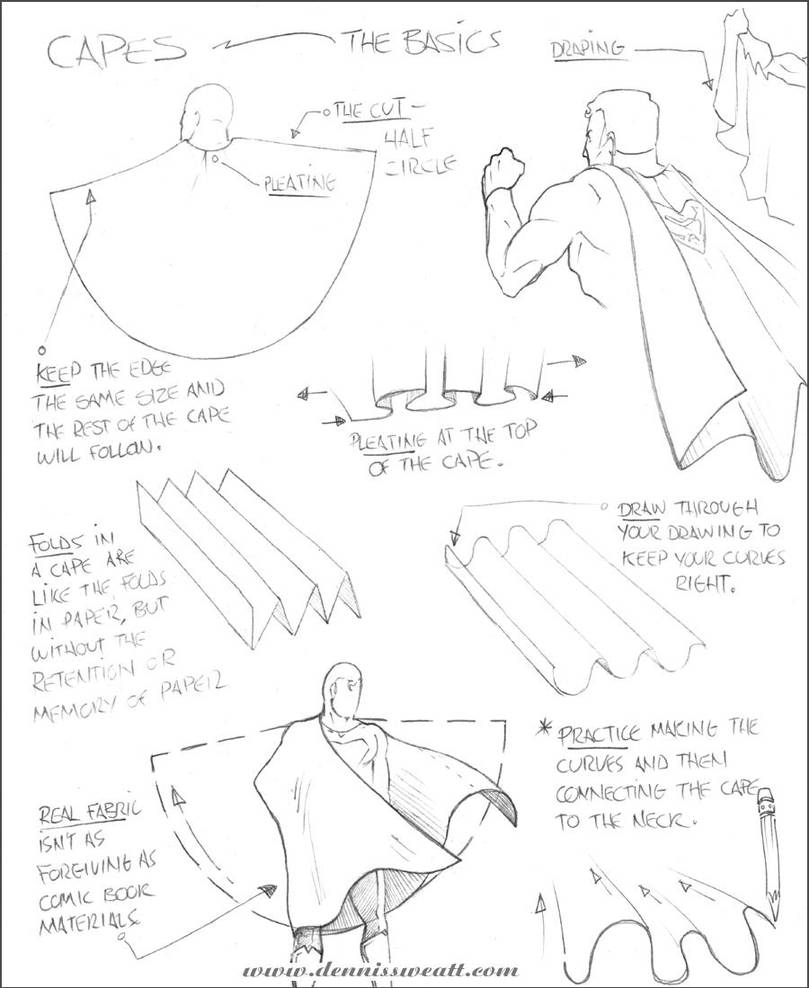 How to draw capes by dennissweatt