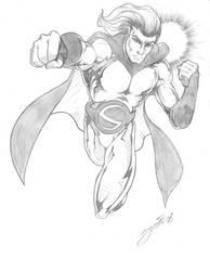 Sentry pencil - Marvel by dennissweatt