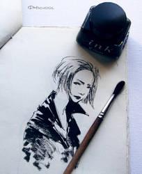 ink sketch by lispoart