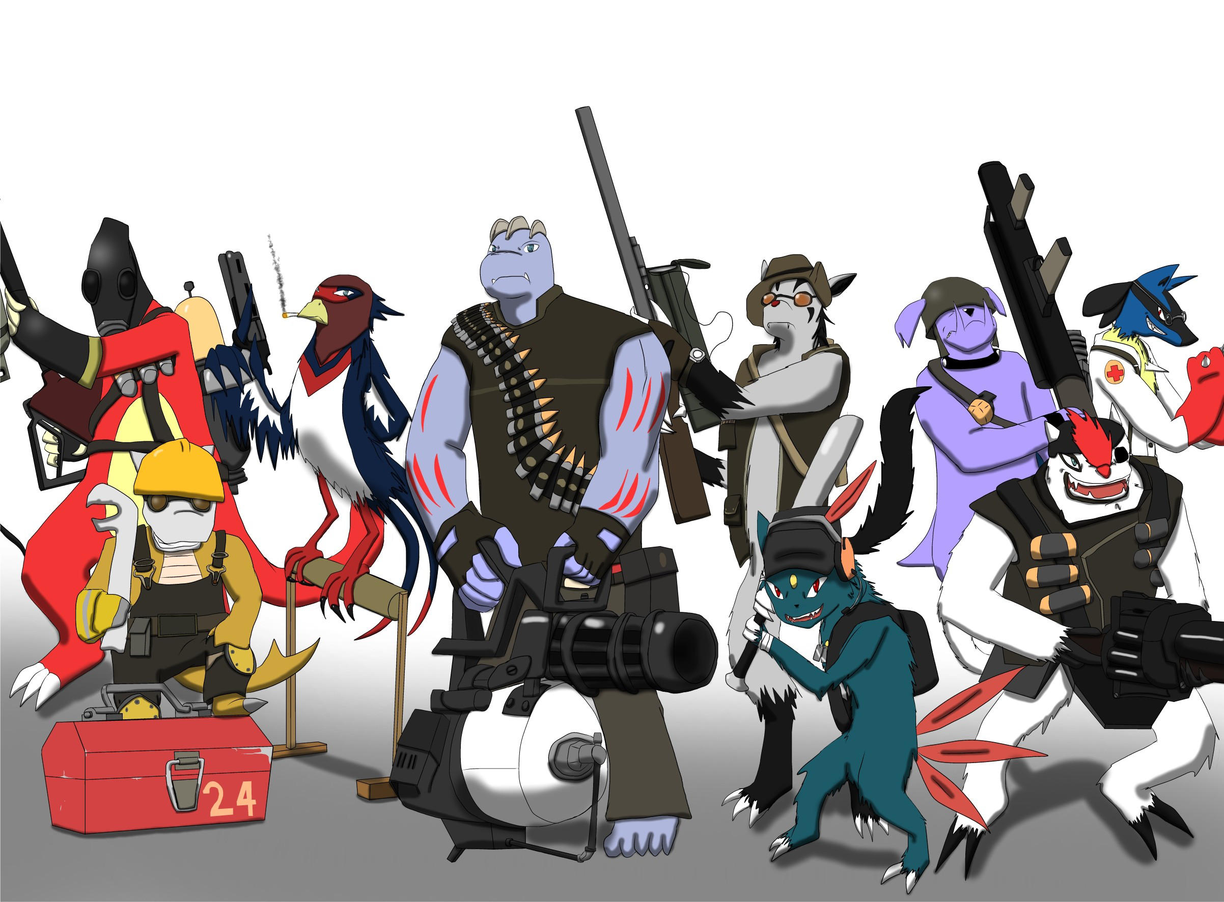 Pokemon Fortress 2 by DragonGirl46
