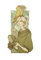 Tiny yellow thief by kinixuki