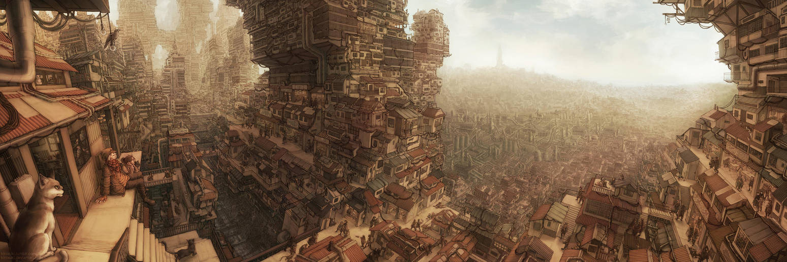 Tall Houses by kinixuki
