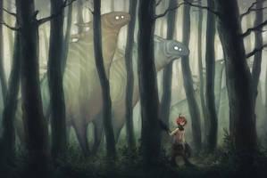 Forest spirits by kinixuki