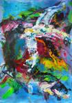 Flight @ Sea - Acrylic Abstract by psycopix by psycopix