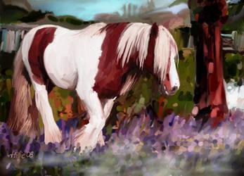 Bluebell Horse by psycopix