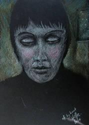 Pencil On Black Paper by psycopix