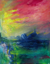 Outpost in Acrylic / Abstract by psycopix