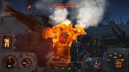 Fallout 4: Sentry Bot by psycopix