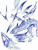 Nether Drake Sketches by Awesometacious