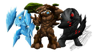 The Legendary Golems by Awesometacious