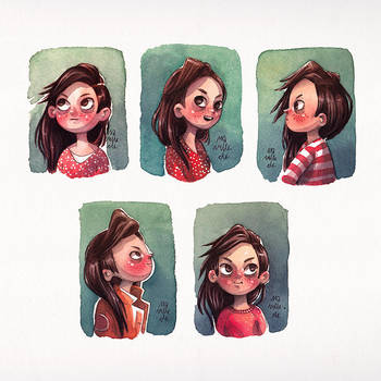 mini Girl Portraits by Iraville