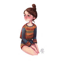 patterned girl by Iraville