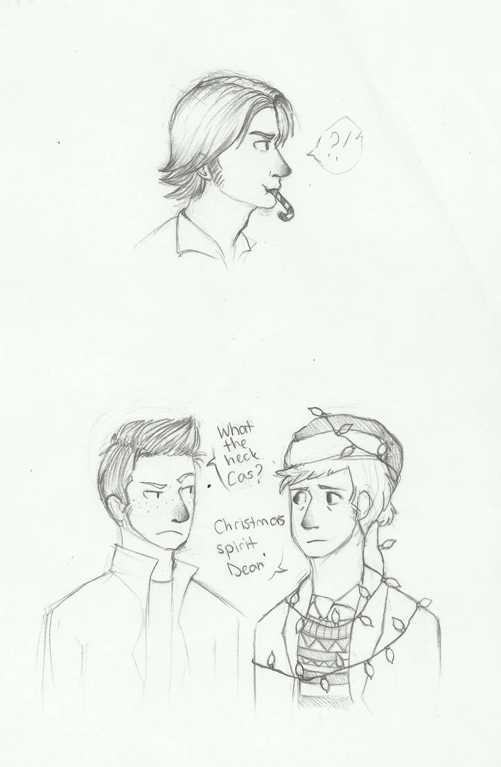 Christmas Sketches.Supernatural Christmas Sketches By Wolf Spirit99 On Deviantart
