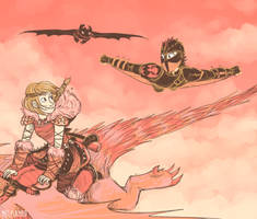 Astrid and Hiccup by Wolf-Spirit99
