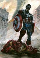 00 Captain America vs Iron Man by bushande