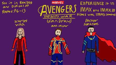 Avengers: Infinity War (2018) Fan-Draw by Nathan750