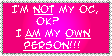I am NOT my OC stamp by Miho-Nosaka-stamps