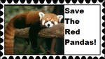 Save The Red Pandas Stamp by RedqueenAllison